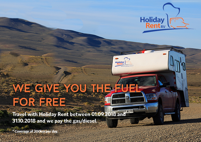 Rent a camper, free fuel